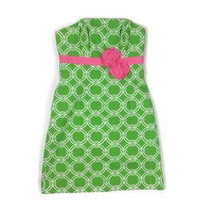 Lilly Pulitzer Bowen Jacquard Rose Strapless Dress